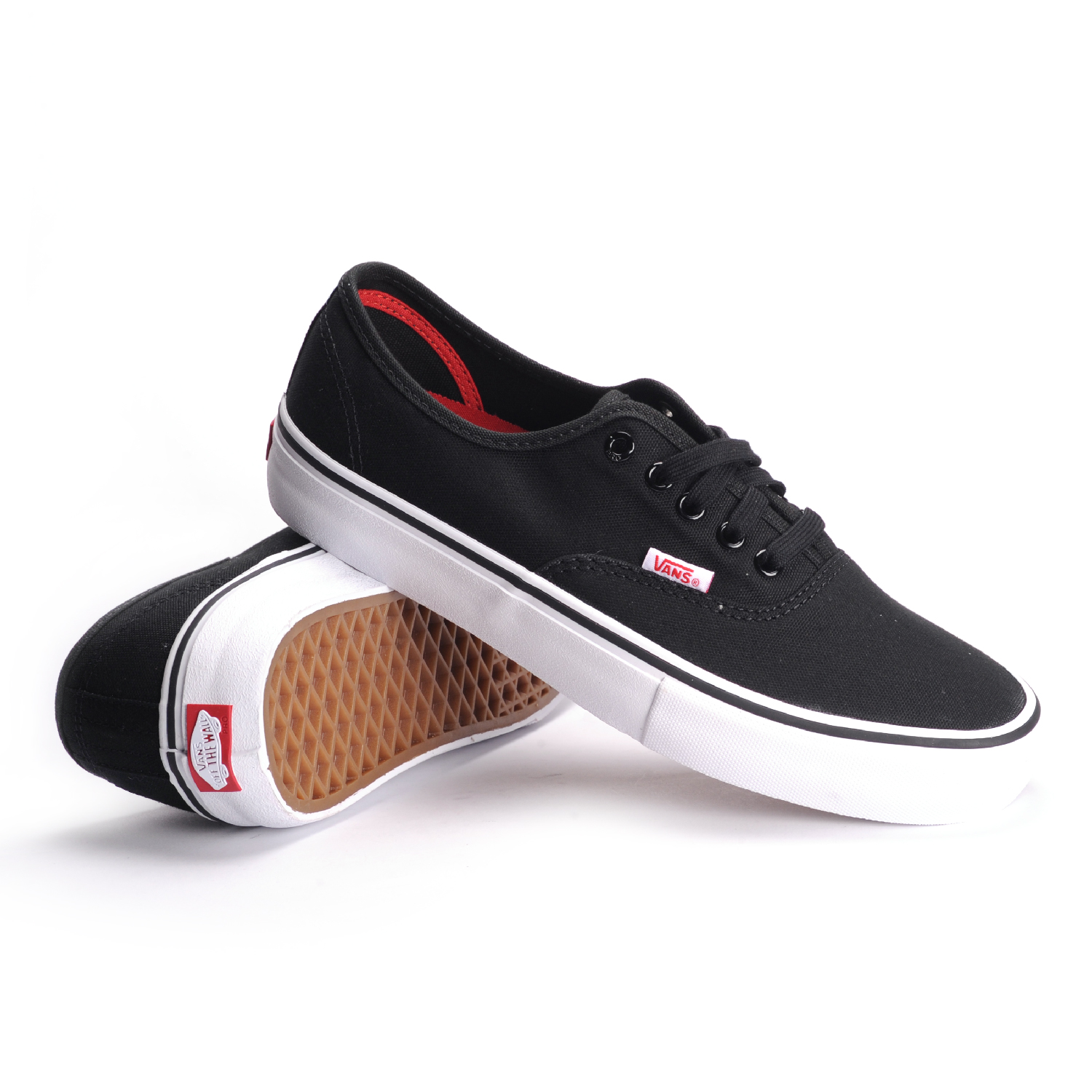 Vans Authentic Pro (Black/White) Men's Skate Shoes