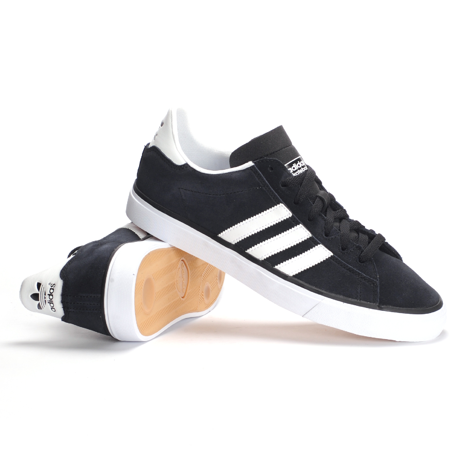 adidas campus vulc skate shoes black white