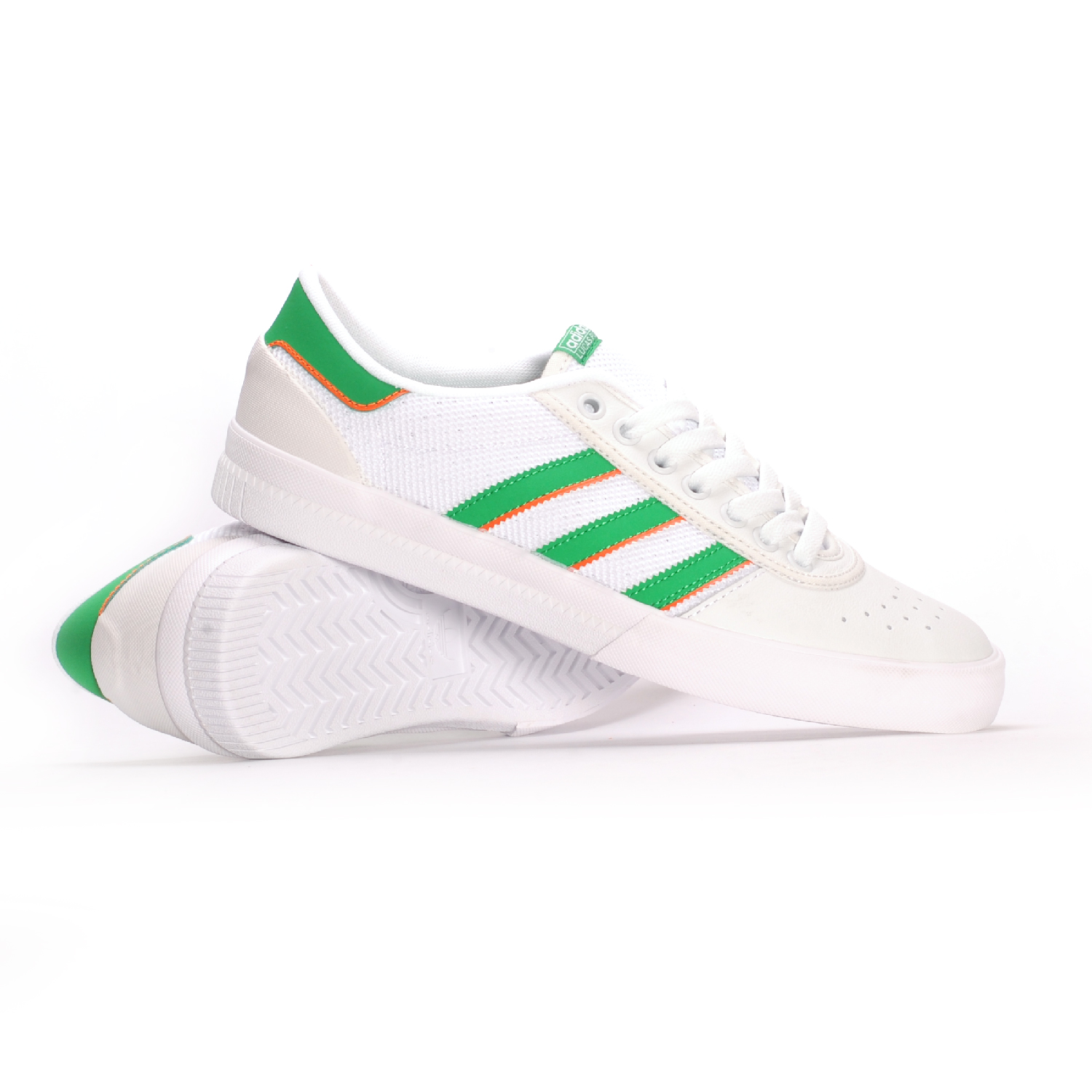 c2cd6474b7 Adidas Lucas Premiere ADV (White Green White) Men s Skate Shoes