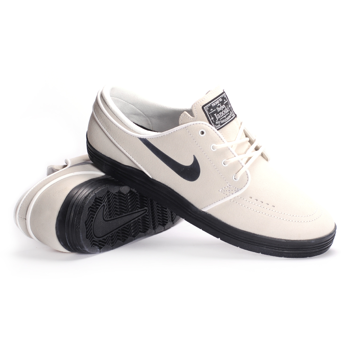 nike sb lunar stefan janoski summit white black men 39 s. Black Bedroom Furniture Sets. Home Design Ideas