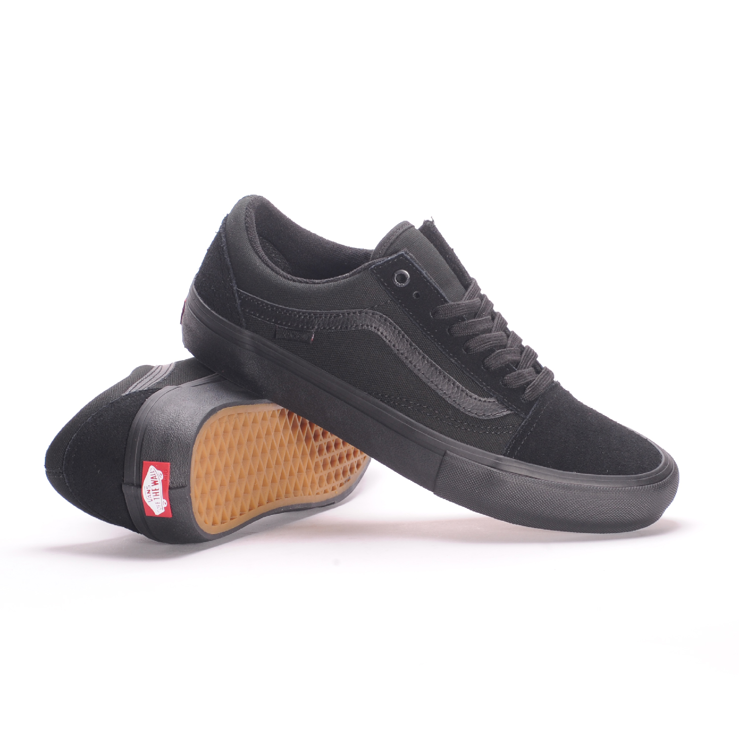 Vans Old Skool Pro (Blackout) Men's Skate Shoes