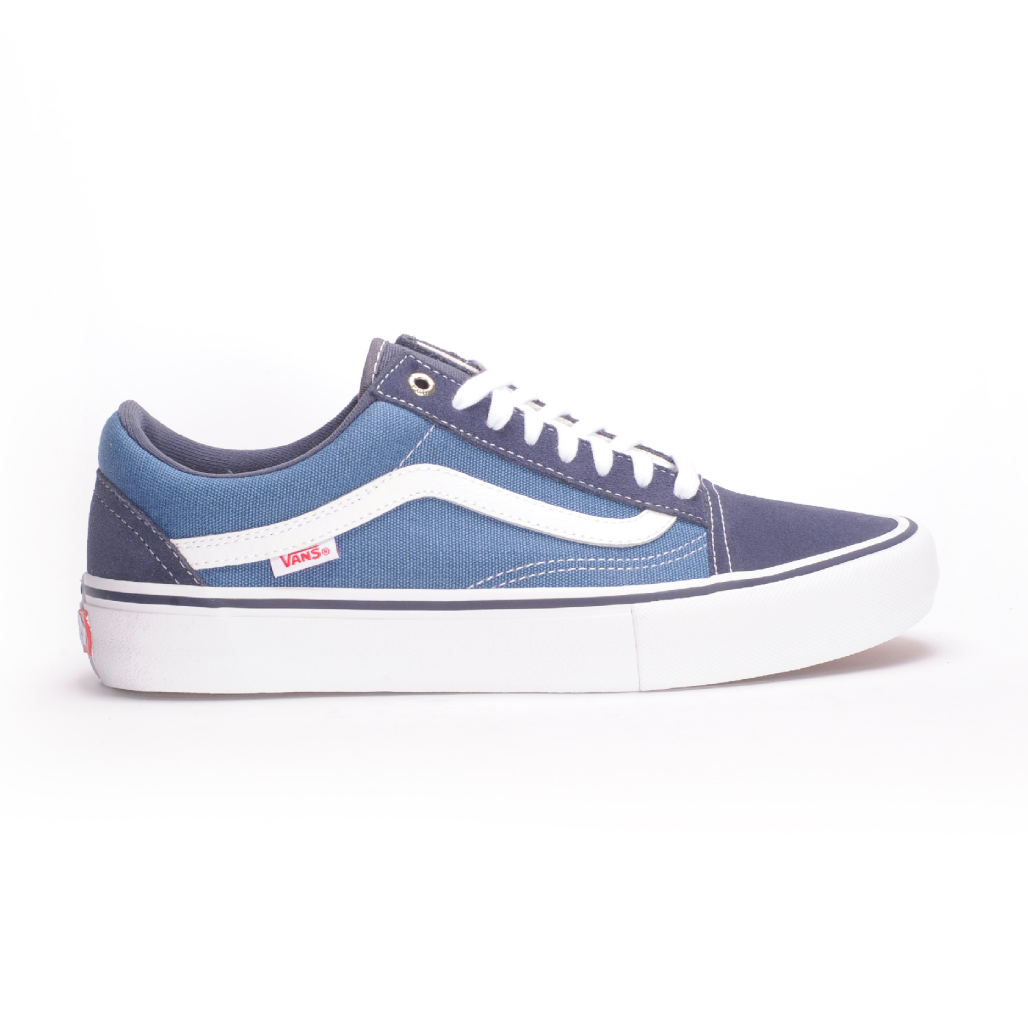 68b68a07ebe1 Vans Old Skool Pro (Navy STV Navy White) Men s Skate Shoes