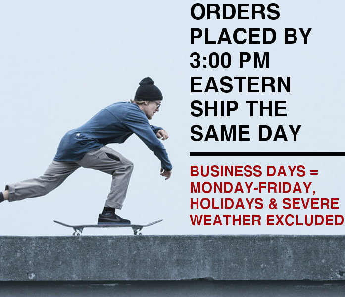 Orders Placed by 3:00 PM Eastern Ship the Same Day