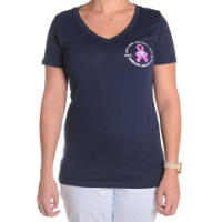ABC Breast Cancer Navy VNeck