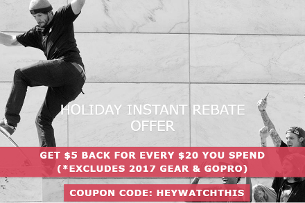 Holiday Instant Rebate Offer: Get $5 Back for Every $20 You Spend