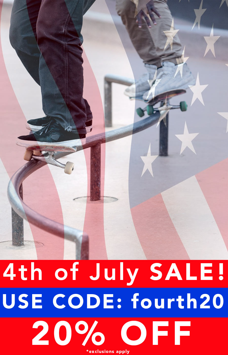 Fourth of July Sale - Get 20% OFF