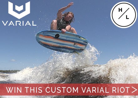 Enter to win a custom Hyperlite Varial Riot Wakesurfer from BuyWake.com