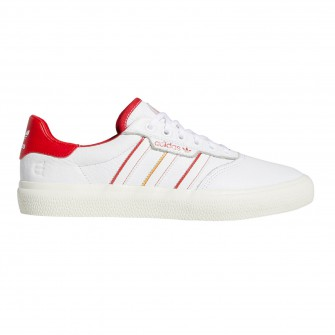 adidas 3MC x Evisen (White/Scarlet/Gold Metallic) Men's Skate Shoes
