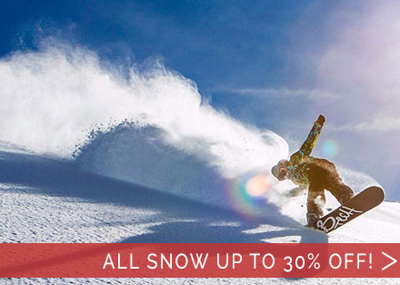 All Snowboarding Gear for 2019 up to 30% OFF!
