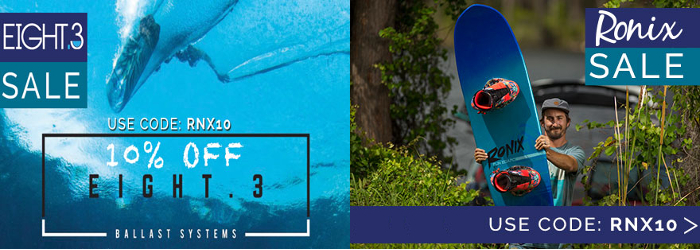 Ronix & Eight.3 Sale - Save an additional 10%