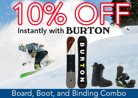 Save 10% off Burton Packages!