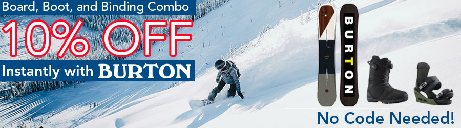Save 10% When You Combo Burton Board, Boot & Bindings
