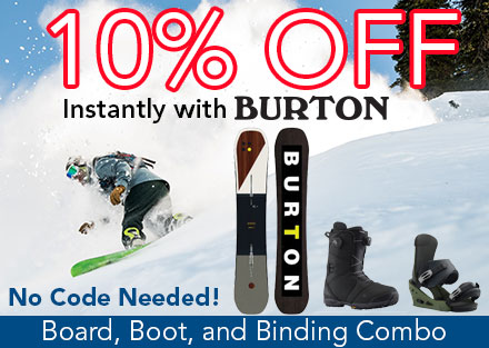 10% OFF Burton Snowboard Package
